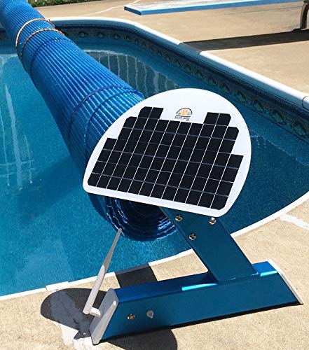 Automatic Solar Blanket Cover Reel/Roller - Remote Controlled, Solar Battery Charged/Powered, Motorized Units for 20x40' in-ground Swimming Pools. Automatic Solar Pool Covers