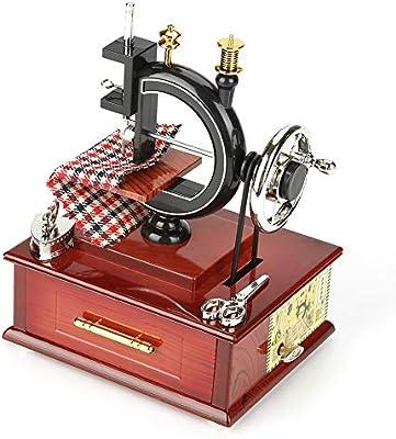 Ichiias Music Box Vintage Style Retro Máquina de Coser Clockwork ...