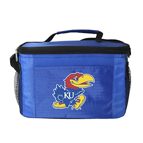 NCAA Kansas Jayhawks Team Logo 6 Can Cooler Bag or Lunch Box - Blue