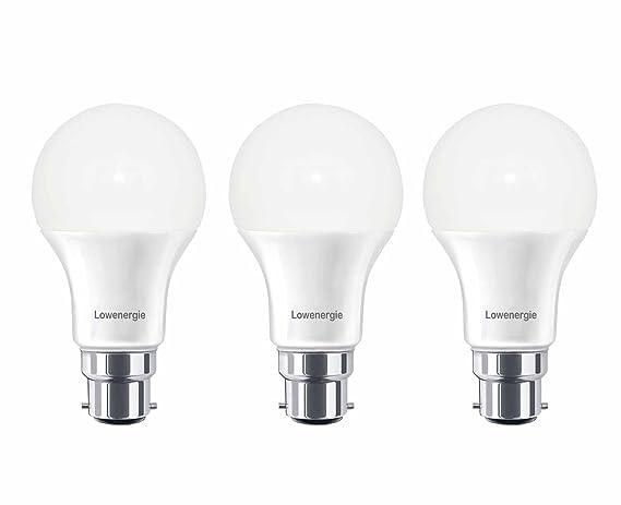 Lowenergie - Lote de 3 bombillas LED, luz blanca diurna, 6000K,