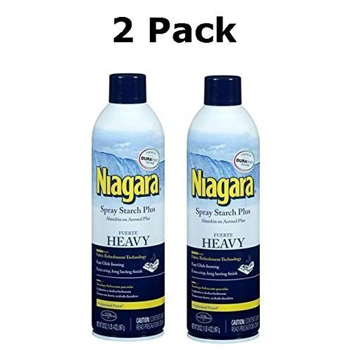 Iron Spray - Niagara Heavy Spray Starch Plus Durafresh, Professional Finish, 20 Oz (2 Pack)