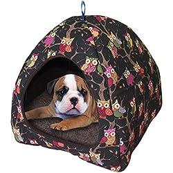 DZT1968 Dog Tent House Kennel Cat Winter Warm Nest Soft Foldable Pet Sleeping Mat Pad