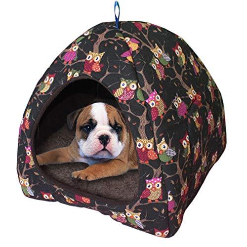 DZT1968  Dog Tent House Kennel Cat Winter Warm Nest Soft Foldable Pet Sleeping Mat Pad -