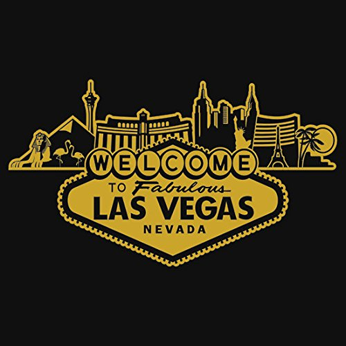 Welcome to Las Vegas (Golden Edition) (8.3x8.3CM) Car Motorcycle Bicycle Skateboard Laptop Luggage Vinyl Sticker Graffiti Laptop Decals Bumper Stickers by august999