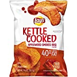 kettle chip bbq - Lay's Kettle Cooked 40% Less Fat Applewood Smoked BBQ Flavored Potato Chips, 1.375 Ounce (Pack of 64)