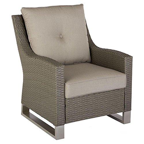 Hampton Bay Broadview Patio Club Chair in Sunbrella Spectrum Dove (2-Pack)
