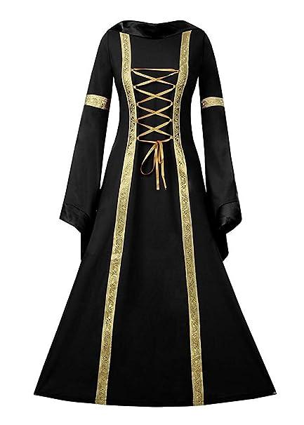 Amazon.com: NiuBia Vestido de lujo medieval para mujer ...