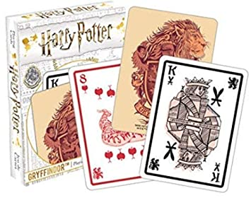 HARRY POTTER Gryffindor Carta de Juego: Amazon.es: Juguetes ...