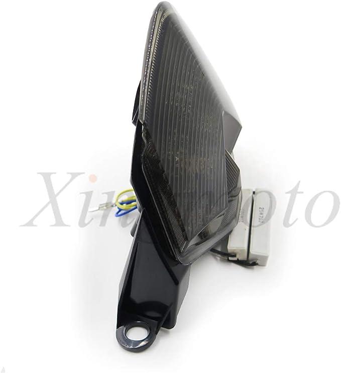 NBX Luz de freno LED para motocicleta con intermitentes integrados para Kawasaki 07-12 Z750//07-08 Z1000//08-10 ZX-10R ZX1000//09-12 ZX-6R ZX600
