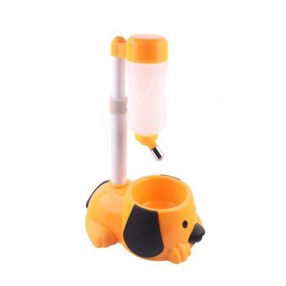 WW Pet Automatic Waterer Hanging Water Bottle Liftable Cat Dog Standing Water Dispenser Automatically Feeding Water Height Adjustable,Orange by CW&T (Image #2)
