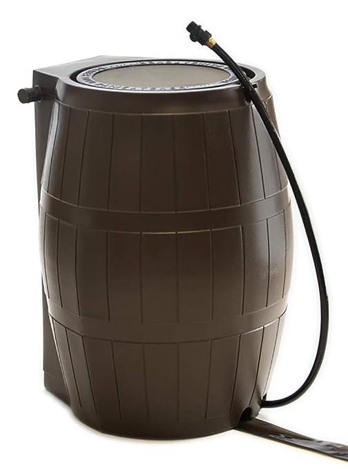 FCMP Outdoor RC4000-BRN Catcher 4000 Rain Barrel, Brown