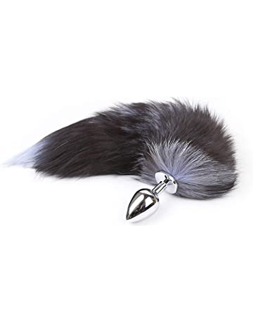4567bd05722 Fluffy Sunny Fox Tail Fur Anale Cosplay Toy Fox Tail Court Metal Fox Tail  Plug Wand