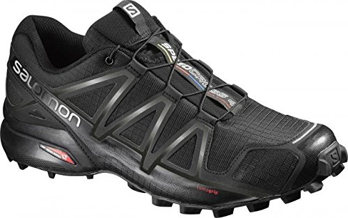 Salomon Speedcross 4 Trail Running Shoe - Men's Black/Black/Metallic 13