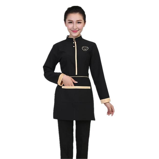Amazon.com: Xinfu camarero chamarra hombres mujeres manga ...