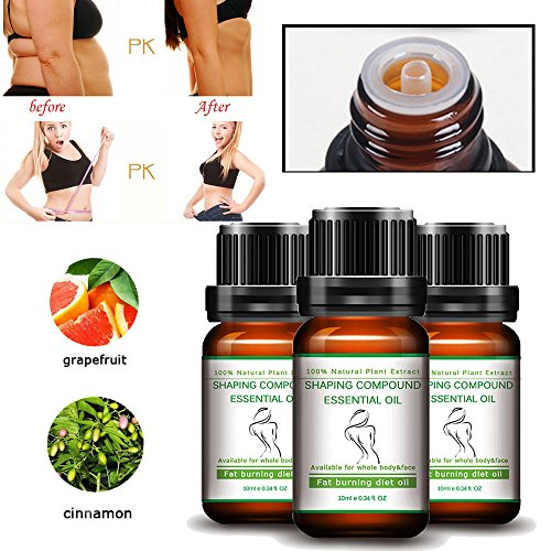 Euone Slimming Essential Oil , Body Shaping Oil Massage Weight Loss Product Leg Body Waist Fat Burning 10ml -