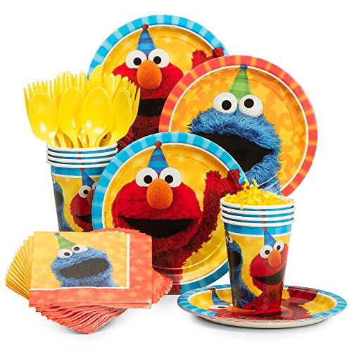 Sesame Street Party Plates (BirthdayExpress Sesame Street Party Supplies Snack Party Pack for)