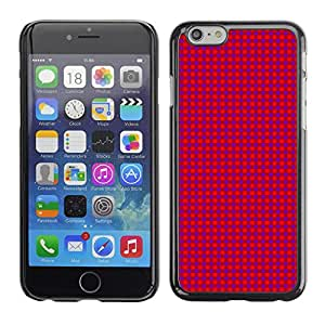 TopCaseStore / la caja del caucho duro de la cubierta de protección de la piel - Texture Pink Dots - Apple iPhone 6 Plus 5.5