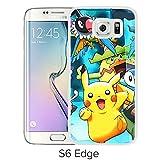 Fashion Designed Pokemon 13 White Samsung Galaxy S6 Edge Phone Case