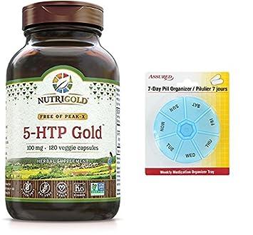 Alholva orgánica oro - 750 mg, 120 cápsulas vegetarianas con gratis 7 días plástico píldora