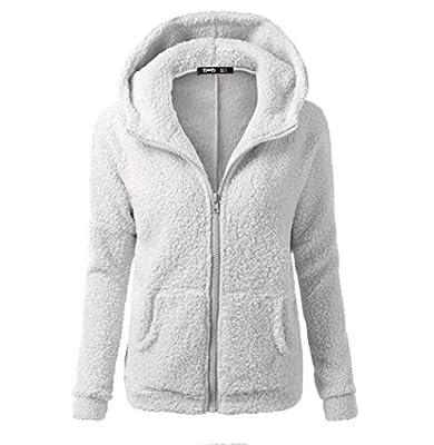 Ellie Hebe Women's Winter Front Zip Fleece Hoodie 8 Colors