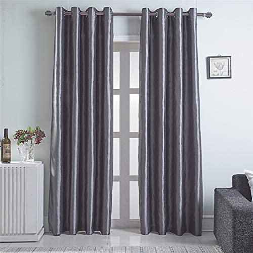 GYROHOME Faux Silk Blackout Curtains