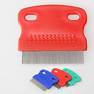 Pecute Flea Comb Durable Dog Puppy Cat Cleaning Comb Grooming Brush Tool Random Color from Pecute