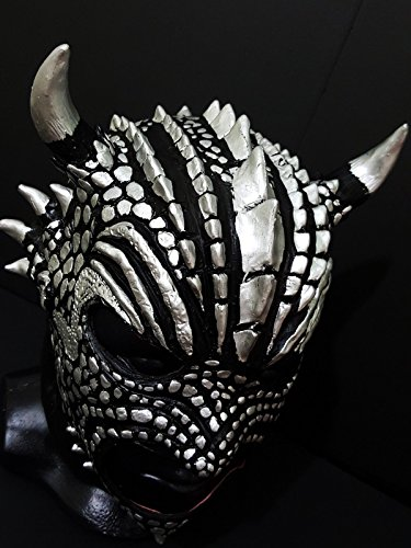 [BLACK DRAGON WRESTLING MASK LATEX MASK LUCHADOR COSTUME WRESTLER LUCHA LIBRE MEXICAN MASKE] (666 Halloween Costume)