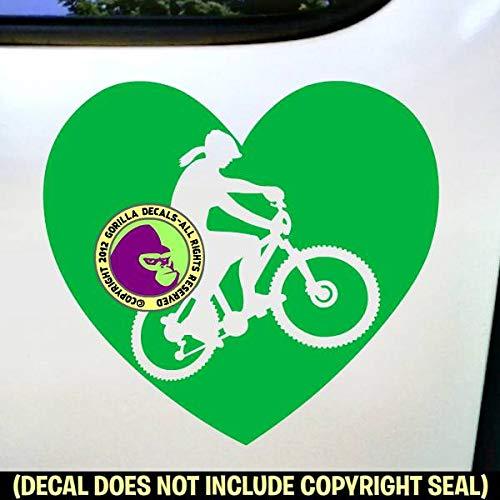 Mountain Biker Inside Decal Sticker Bike Helmet