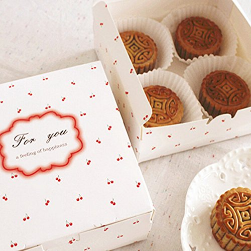 - Floral Cardboard Paper Boxes For Moon cake Candy Cookie Gift Packaging 10 Counts 5.55.52 Inch
