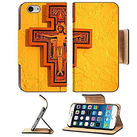 MSD Premium Apple iPhone 6 iPhone 6S Flip Pu Leather Wallet Case IMAGE ID: 4121815 San Damiano - Franciscans San Damiano
