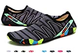 XPKWS Water Shoes for Women Men Quick-Dry Swim Shoes Outdoor Mens Womens Surf Boating Sports (Black01, 9 US Women/7 US Men)