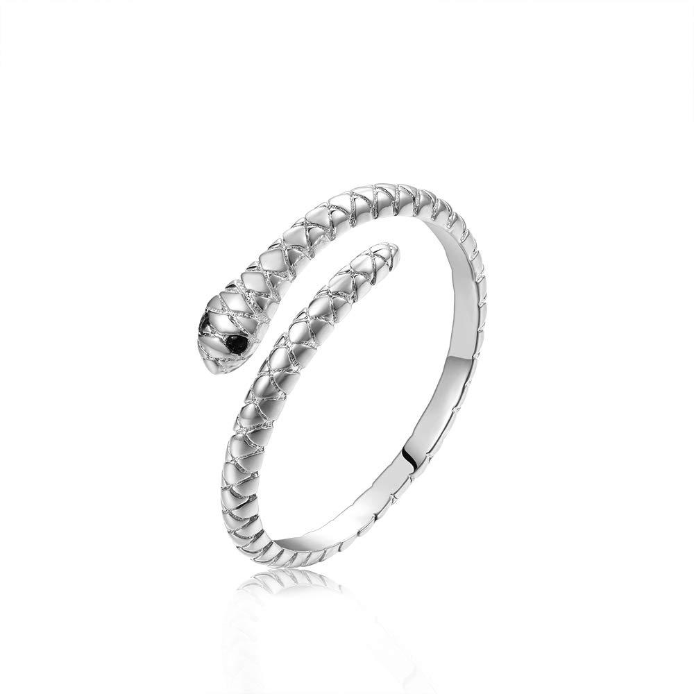 Lemon Grass Little Silver Snake Ring Adjustable One Size