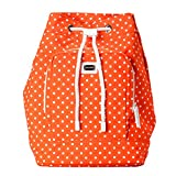 Dolce & Gabbana Orange White Polka Dot Women's Drawstring Backpack Bag