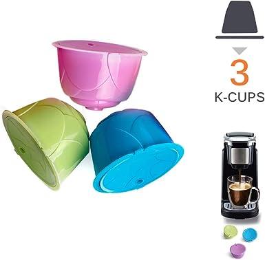 Filtro de café reutilizable, cafeteras, cápsula de café recargable colorida, cápsulas de filtro compatibles con café universal Pod para Dolce Gusto: Amazon.es: Alimentación y bebidas