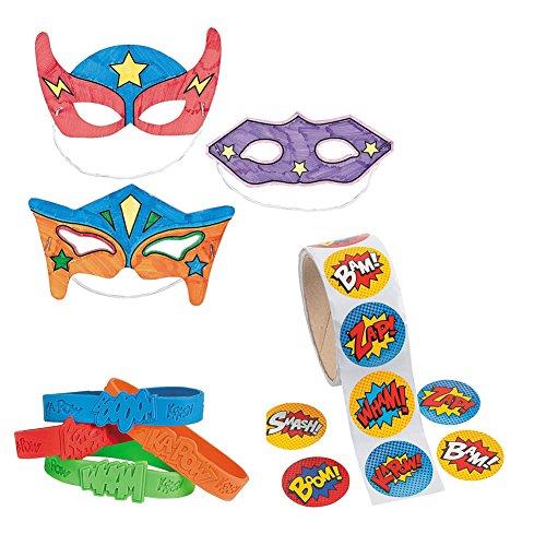 Superhero Favor Bundle Color your own Bracelets