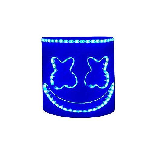 MZS Tec DJ Led Mask, Music Festival Helmets Novelty Costume Party Mask Rubber Latex Halloween