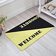 TIANTUR Tapete de porta simples de boas-vindas com suporte antiderrapante para decoração de banheiro, tapete d
