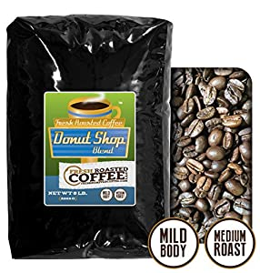 Donut Shop Blend Coffee, Whole Bean coffee, Fresh Roasted Coffee LLC.