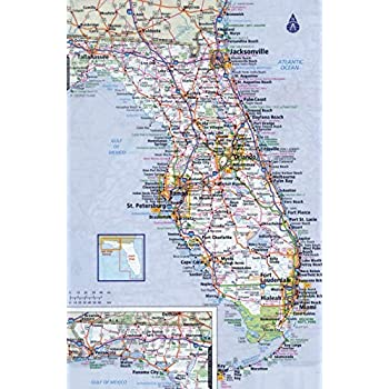 Map Of Florida Detailed.Amazon Com Home Comforts Laminated Poster Large Detailed Roads And
