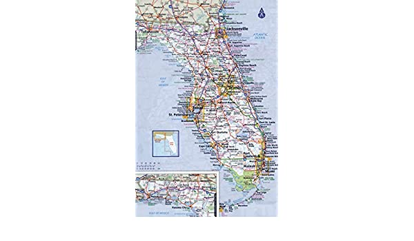 Florida State Map With Highways.Amazon Com Home Comforts Laminated Poster Large Detailed Roads And