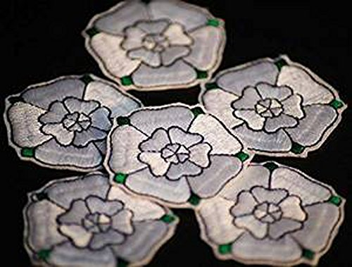 Medieval-Re Enactment-SCA War of the Roses-House of York-WHITE ROSE MOTIF Pack of 10