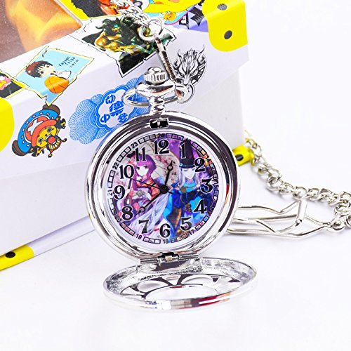 usongs The second element animation around jewelry watches hollow men and women students pocket watch necklace pendant birthday gift ()