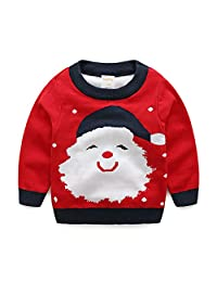 ZEAMO Baby Long Sleeve Ugly Christmas Santa Claus Pullover Sweaters