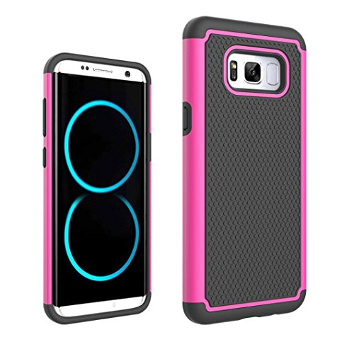 (GBSELL Hard Hybrid Rugged Rubber Protection Case Cover For Samsung Galaxy S8 (Pink))