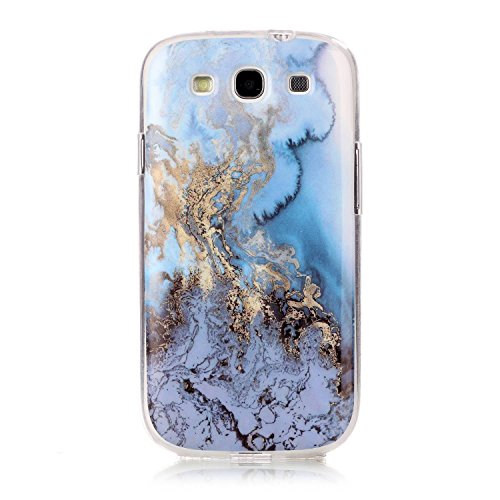 Galaxy S3 I9300 Glossy Case, GreenDimension Gradient Premium Protective Clear Soft Gel Bumper Slim Fit Creative Marble Pattern Crystal Rubber TPU Anti-dust Silicone Shell Cover for Samsung Galaxy S3 (Samsung Galaxy S3 Case Adorable)