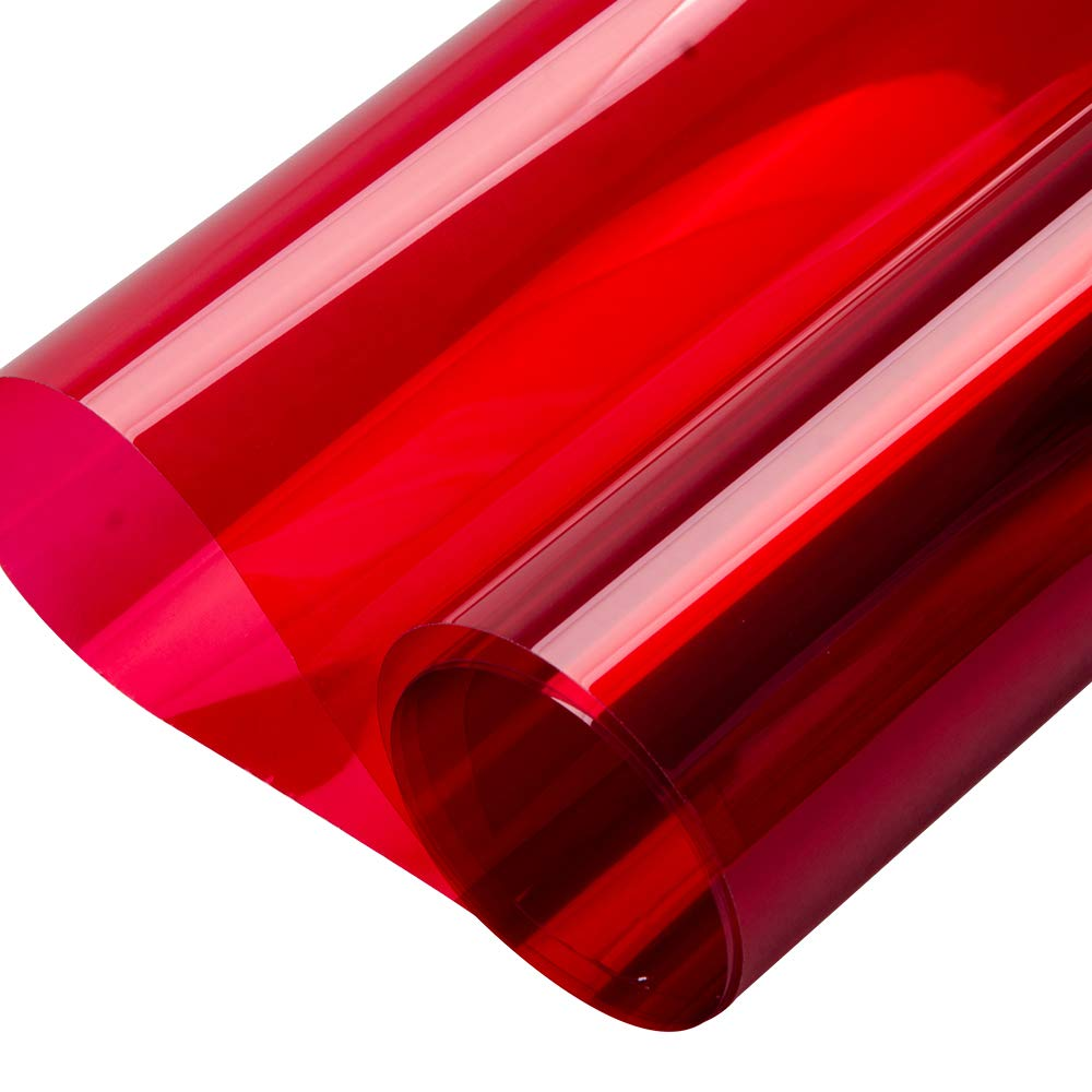 Green HOHOFILM 60x20 Colored Window Film Clear Decorative Glass Tint Sun Blocking Heat Control Self Adhesive Window Tint for Building Residential