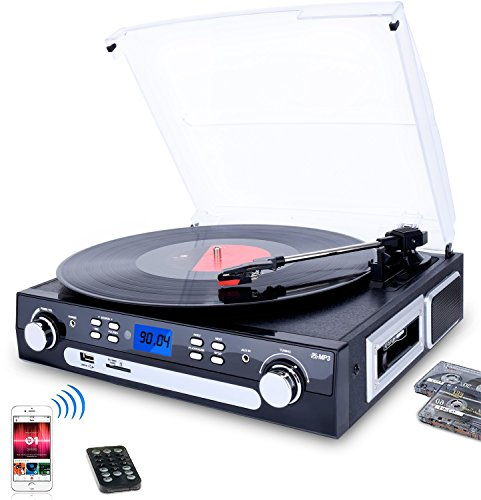 bluetooth viny record player turntable