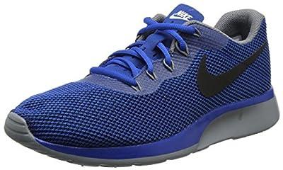 Nike Mens Tanjun Fabric Low Top Lace Up Running Sneaker, Blue, Size 8.0