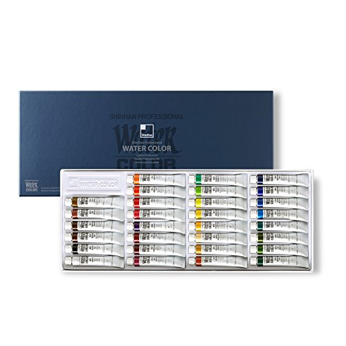 SHINHAN Professional Watercolor Paint 7.5ml Tubes 30 Color Set (Raw Light Umber)