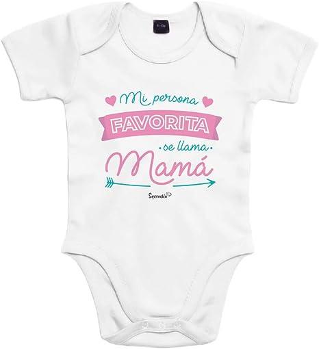 SUPERMOLON Body bebé algodón Mi persona favorita se llama Mamá 3 ...
